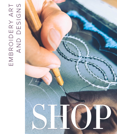 embroidery art and design store by Ksenia Semirova